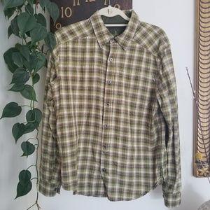 Prana Plaid Button Down Shirt S